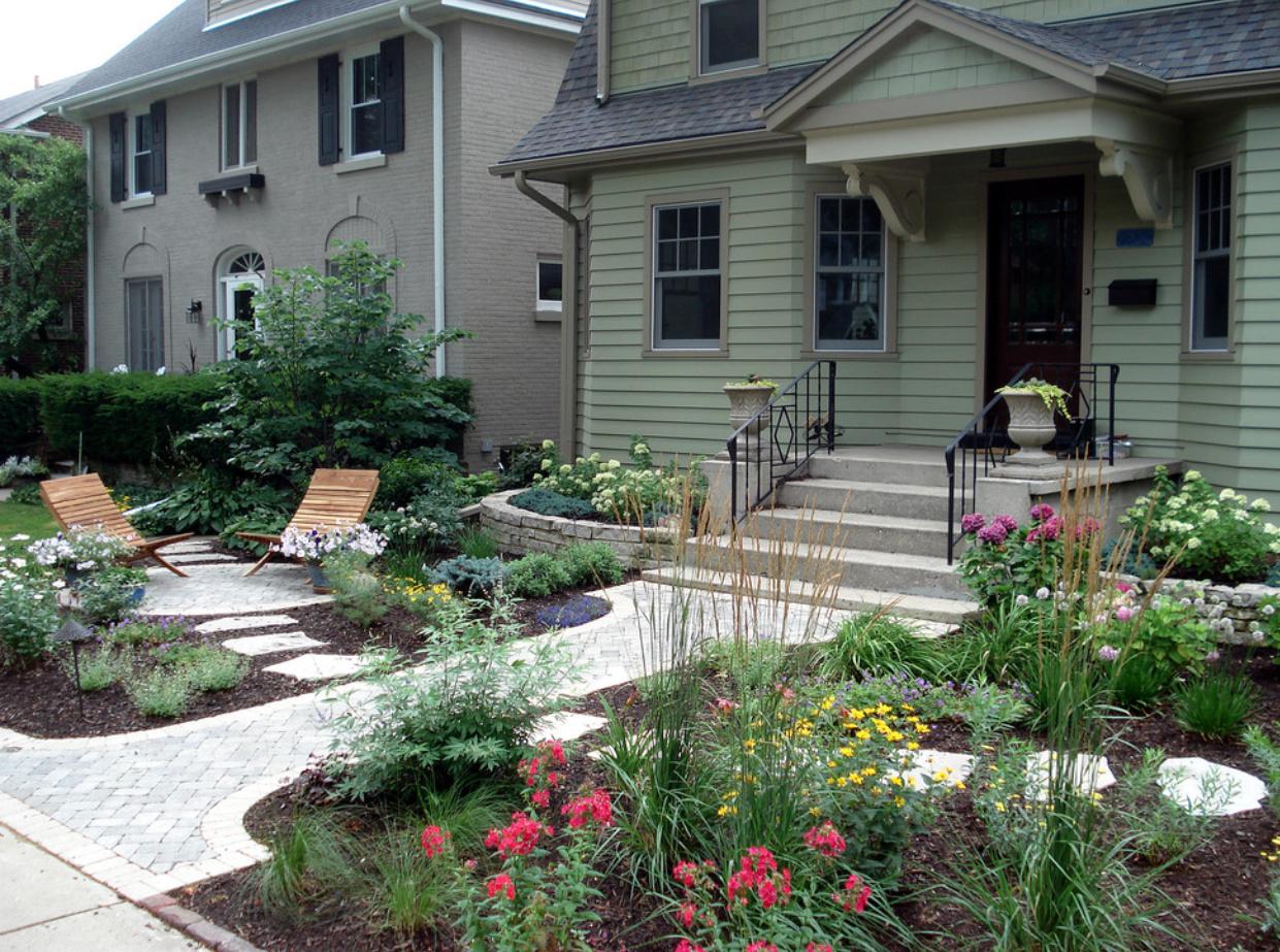 Дизайн двора частного дома фото современных дворов своими руками 221